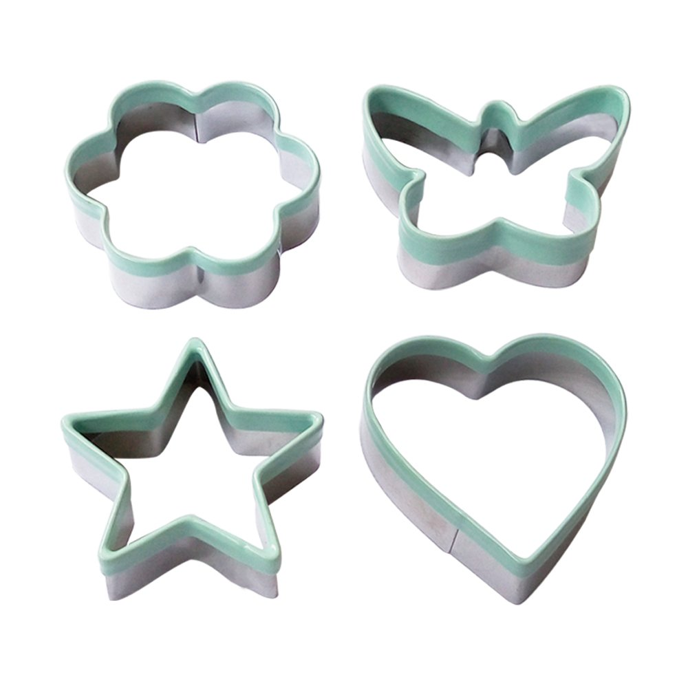 Ecoart Coffret de Cookie Cutter Molde - Estrella Flor corazón Mariposa Biscuit Cutter Molde Inoxidable -