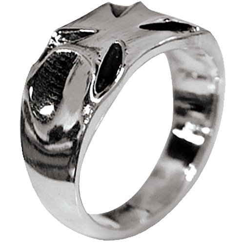 Cross Iron Emblem (Old Glory - Diecut Iron Cross Emblem Ring Sterling Silver Jewelry)