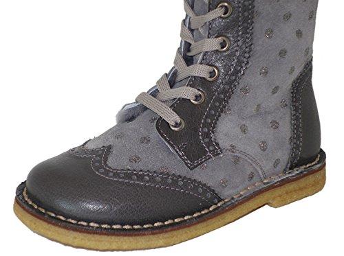 Zecchino dOro A06-660 Mädchen Stiefel Grau (grey 5506)