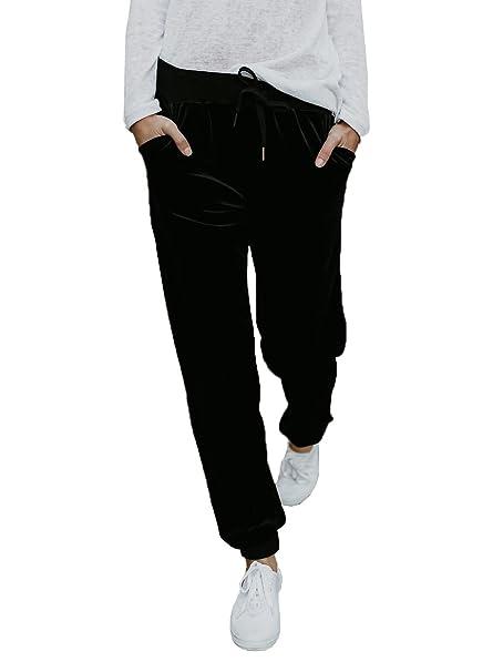 Amazon.com: imily Bela mujer Casual pantalones de ancho ...