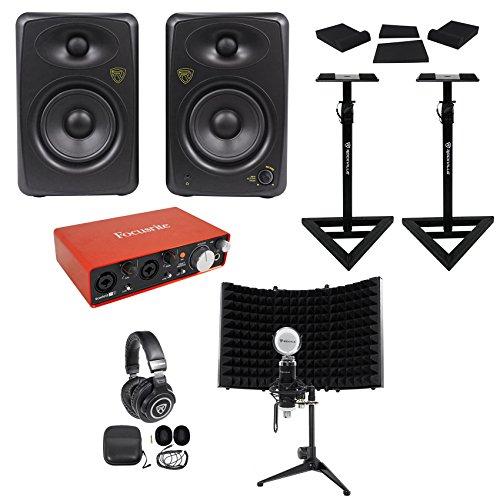 Focusrite Package w/Interface+Studio Monitors+Recording Mic+Headphones+Stands ()