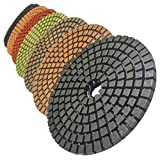 Stadea PPW282A 5-Inch Diamond Polishing Pads Set For Wet Marble Concrete Granite Polishing