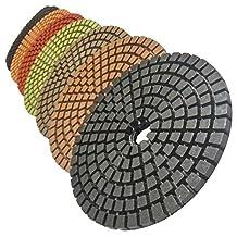 Stadea PPW282A 5-Inch Diamond Polishing Pads Set For Wet Marble Concrete Granite Polishing