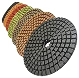 STADEA Premium Grade Wet 5'' Diamond Polishing Pads 8 Pcs Set For GRANITE MARBLE STONE Polish