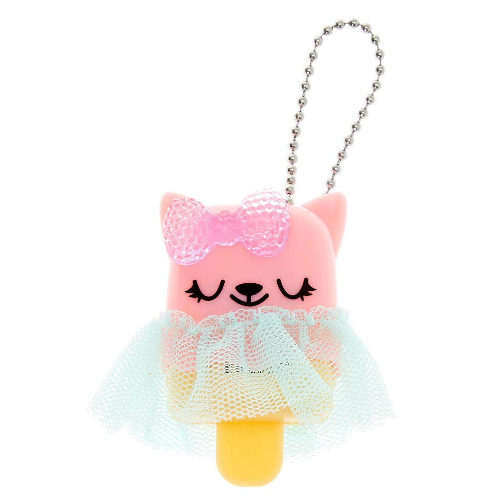 Claire's Pucker Pops Cat Tutu Lip Gloss for Girls, Cherry, 1 Piece