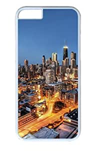 Chicago City Skyscrapers Custom Case For Samsung Note 4 Cover Polycarbonate White