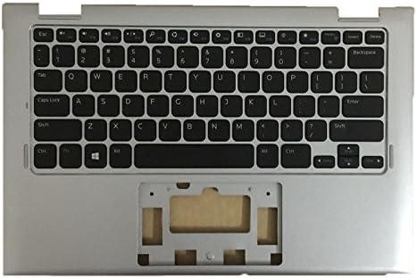 7W4K6 DELL INSPIRON 11 3147 3148 Laptop PALMREST W// KEYBOARD Silver NEW 07W4K6