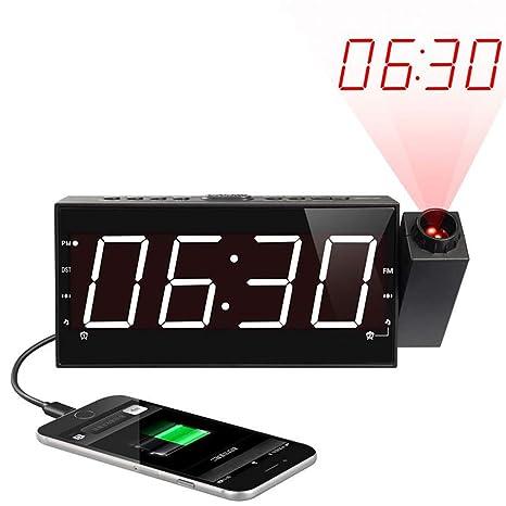 Radio reloj despertador digital, Reloj de proyección ...