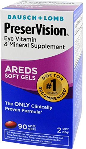 Bausch & Lomb PreserVision AREDS Soft Gels, 90 ea (Pack of 9) by Bausch & Lomb