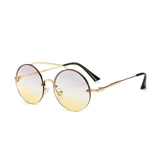 Yangjing-hl Gafas de Sol con Montura Redonda pequeña y ...