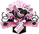 1 X Pop Up Pink Shoe Birthday Card