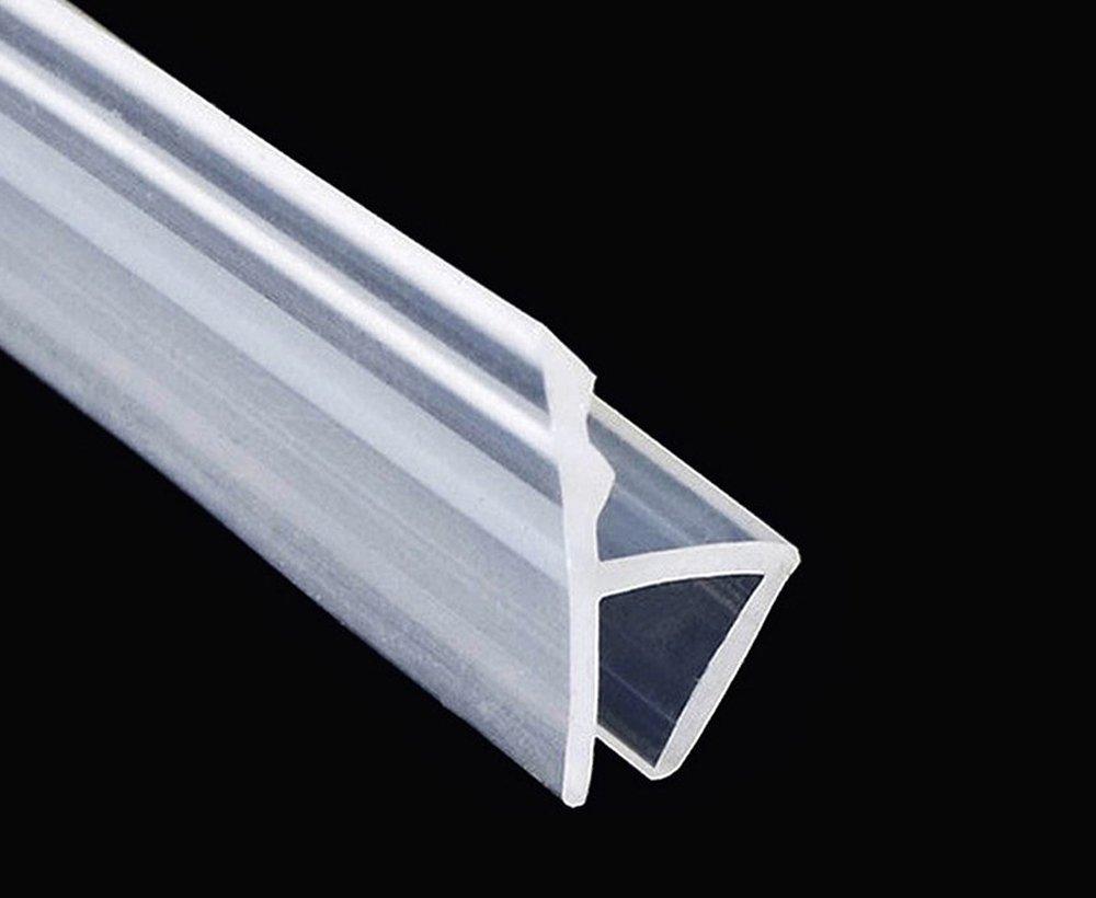 Frameless Shower Door Seal Strip, Weather Stripping Seal Sweep for 3/8 inch Door Windows,10 Ft