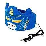 OCT17 Kids Headphones Soft Flexible Fleece Headband Children's Earphones for School Home Travel - Navy Blue Transformers