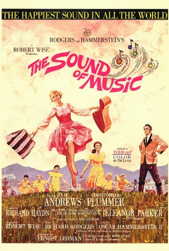 The Sound of Music Poster 27x40 Julie Andrews Christopher Plummer Eleanor  Parker
