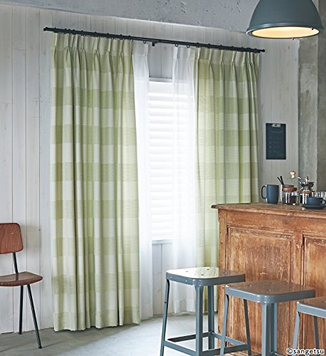 サンゲツ ライトモダンにもおすすめの爽やかな印象の横段柄 カーテン2.5倍ヒダ SC3270 幅:300cm ×丈:130cm (2枚組)オーダーカーテン   B07848FYWK