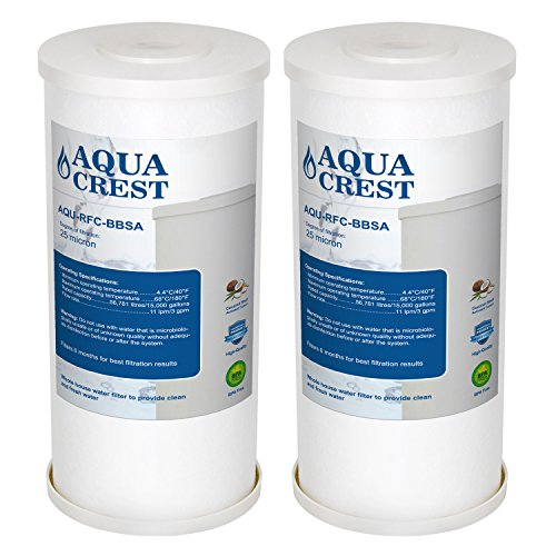 AQUACREST RFC-BBSA Replacement Water Filter, Compatible with Culligan RFC-BBSA, 3M Aqua-Pure AP817, American Plumber WRC25HD 25 Micron Premium Replacement Cartridge (Package May Vary)(Pack of 2) by AQUA CREST
