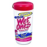 wet ones dispenser - Wet Ones 04703 Antibacterial Moist Towelette, Cloth, 5 3/4 x 7 1/2, White, 40/Dispenser