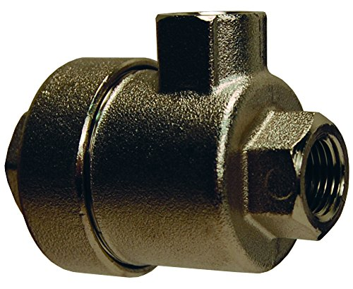 "Dixon 79822222 NPT Quick Exhaust Valve, Nickel Plated Brass Body, Nylon Seal, 1/2"""