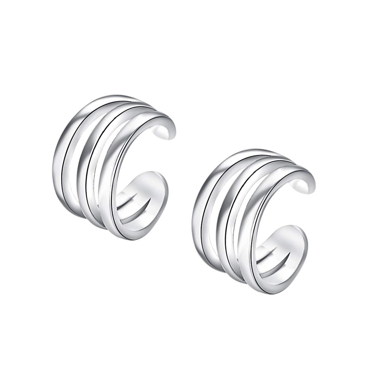 Yoursfs Ear Cuff Non-piercing Cuff Earring Helix Cartilage Earrings for Womens Italina E647W1