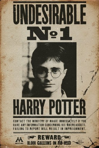 photo regarding Harry Potter Wanted Poster Printable identify POSTER Finish On the web Harry Potter - Online video Poster/Print (Harry Potter Wished-for - Terrible No. 1) (Sizing: 24\