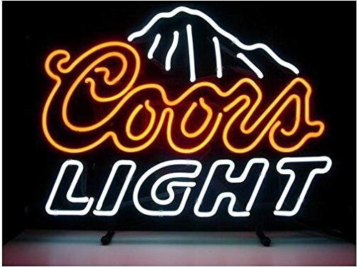 Blue coors light beer neon signs 17w x 14h inch neon lights blue coors light beer neon signs 17w x 14h aloadofball Choice Image