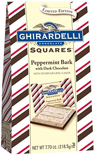 Ghirardelli Limited Edition Peppermint Bark Squares Bag, Dark Chocolate, 7.7 Ounce]()