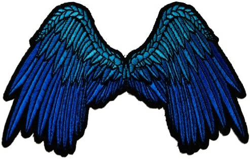 Angel In Blue Embroidered Iron On Patch
