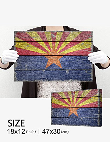 DecorArts - Arizona State Flag. Giclee Print on 100% Archival Cotton Canvas, Canvas wall art for Wall Decor 24x16'' by DECORARTS (Image #7)