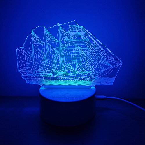 3D Jellyfish Lamp Touch Control 7 Colors LED Table Lamp