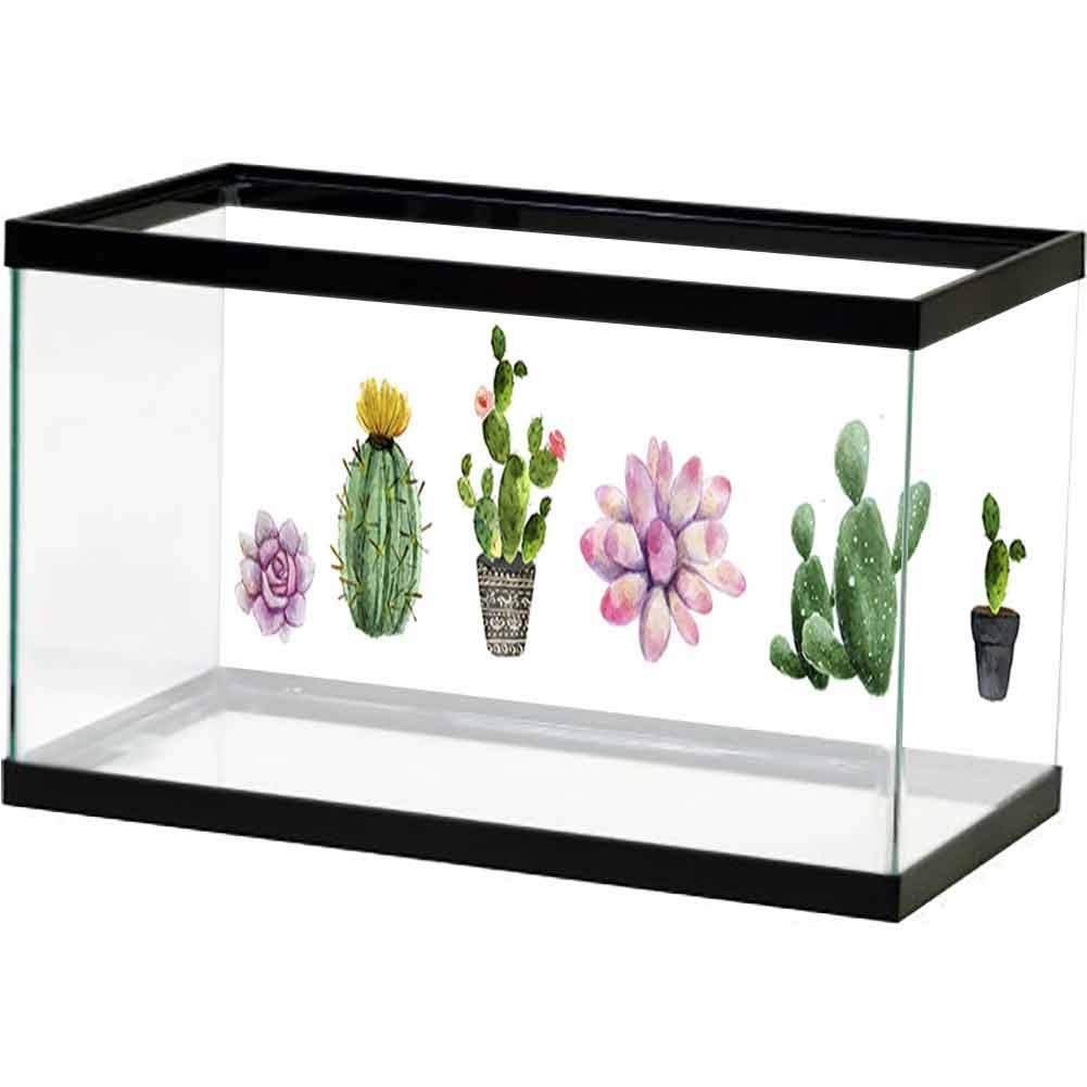 bybyhome Underwater Poster Many Plants, Colorful (2) Decorate Fish Tank by bybyhome