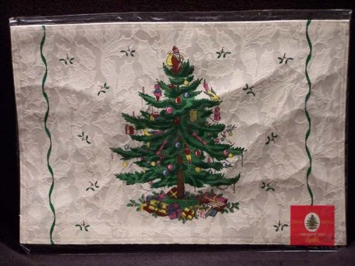 Spode Christmas Tree Placemats - Spode - Christmas Tree - Cloth Placemats Set Of 4