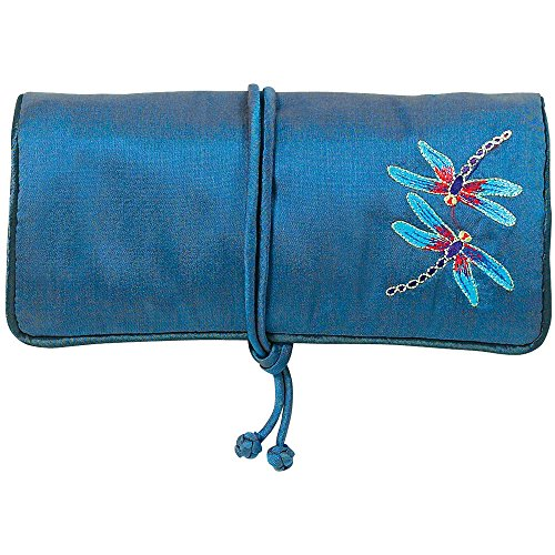 MMA Travel Jewelry Case Jewelry Roll Jewelry Travel Case Louis C. Tiffany Design Blue Jewelry Roll by MMA (Image #2)