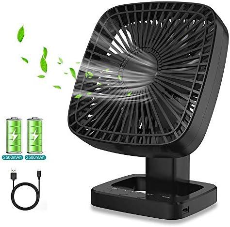 Himylife Ventilador USB, Silencioso Fan Portátil con Pilas Recargable para Viajes, Oficina, Hogar,Camping, Cochecito de bebé, Coche, Caminadora: Amazon.es: Hogar