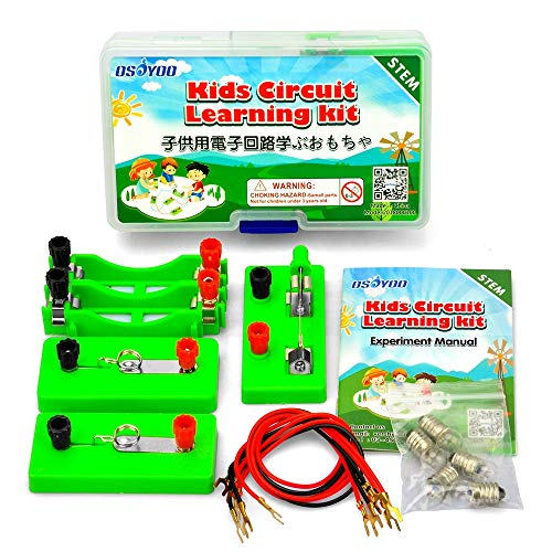 - OSOYOO Kids Circuit Learning Kit for Science Study,Set up Series Circuit Parallel Circuit,Recommend for Age 4-9 (First lab kit)
