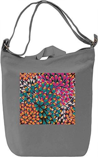 Colorful Abstract Print Borsa Giornaliera Canvas Canvas Day Bag  100% Premium Cotton Canvas  DTG Printing 
