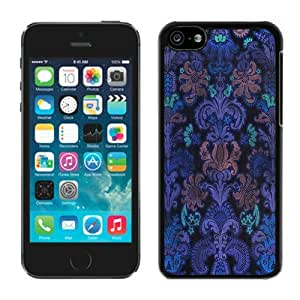 Colorful Damask Iphone 5c Case Balck Cover 1