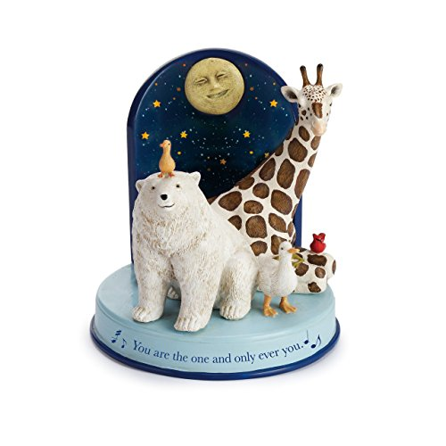 DEMDACO You are The One and Only Ever You Blue 5 Inch Resin Stone Night Light Figurine