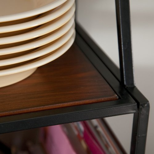 Metal Bakers Rack with Wine Storage, Wine Glass Storage and 2 Pull-out Storage Baskets by Belham Living (Image #3)