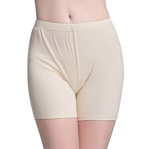 0bca278af672fd Vinconie Slip Shorts for Women Short Leggings Under Dresses Tight Under  Shorts Beige