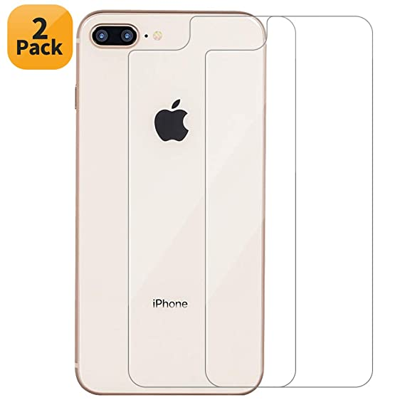 huge discount f8c35 4cec6 Maxdara iPhone 8 Plus Back Tempered Glass Screen Protector, Ultra-Thin  Touch Accurate Anti-Scratch Screen Protector Case Friendly Lifetime ...