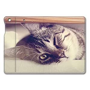 Brain114 iPad Air Case - Full Body Protection Defender Case Cover for iPad Mini Cat Winking Stand Leather Case Cover for iPad Mini