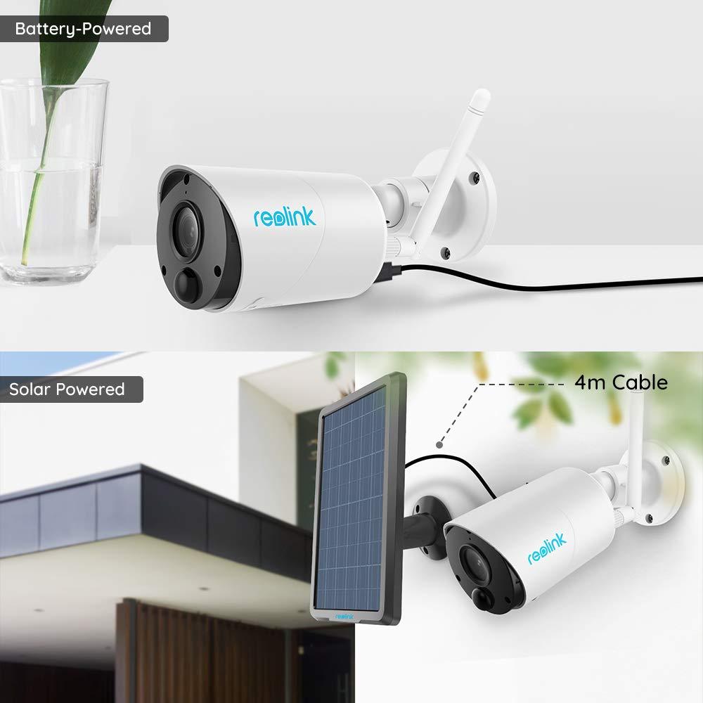 Ranura para Tarjeta Micro SD Panel Solar Incluido Reolink C/ámara IP Argus Eco de para Exteriores 100/% Libre de Cables 1080p HD Bater/ía Recargable//Panel Solar de Seguridad WiFi con 2 v/ías de Audio