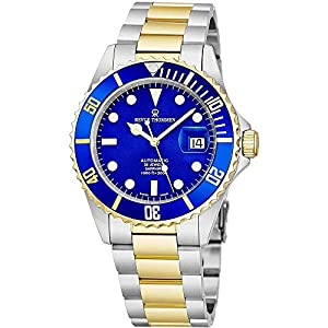 Best Epic Trends 512UCJnA-8L._SS300_ Revue Thommen Mens Diver Watch Automatic Sapphire Crystal - Analog Blue Face Two Tone Metal Band Stainless Steel Dive…