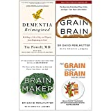img - for Dementia Reimagined [Hardcover], Grain Brain, Brain Maker, No Grain Smarter Brain Body Diet Cookbook 4 Books Collection Set book / textbook / text book