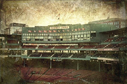 Vintage Fenway Park - Fenway Park Press Box, Vintage Red Sox Wall Art, Boston Red Sox Canvas - Choose Print or Canvas by Boston New England Photo Art