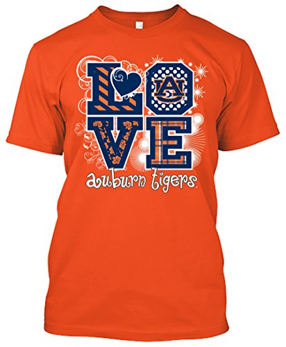 NCAA Love T-shirts - Alabama, Arkansas, Auburn, Clemson, Florida, FSU, Georgia, Kentucky, LSU, Mississippi St., Ole Miss, South Carolina, Tennessee, Texas A&M (Auburn Tigers, Medium)