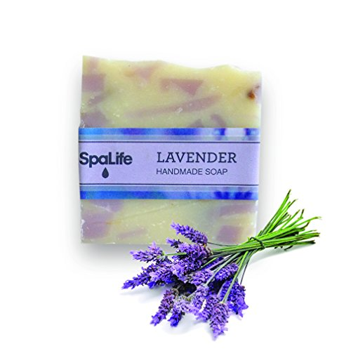 Spa Life Handmade Lavender Soap - 2 Pack - All Natural Cold Process Bar (See Scent Options)
