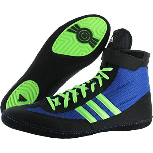 adidas Mens Combat Speed 4 Mesh Striped Wrestling Shoes Blue 11.5 Medium (D)