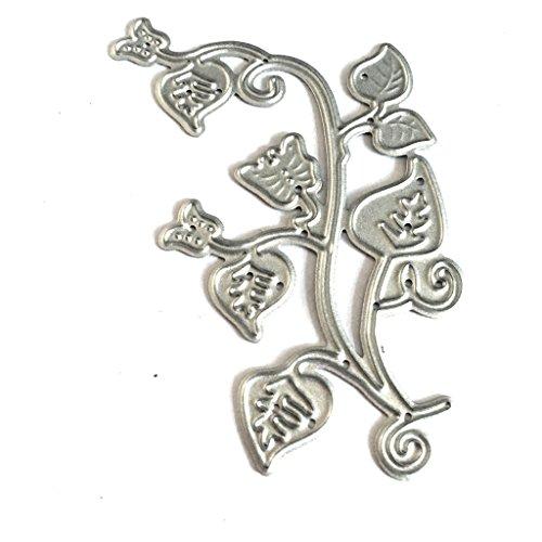 Bottone Branch Flower Embossing Metal Steel Cutting Dies Stencils DIY Scrapbooking Craft