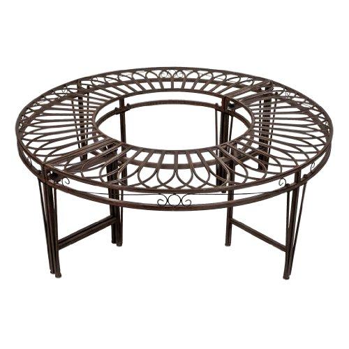 Design Toscano Gothic Roundabout Steel Garden Bench
